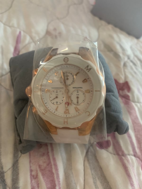 Michelle White and Rose Gold Watch d2fbafac-478b-48d3-8579-236aebd0ca7f