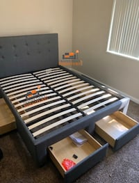 Brand new queen size platform bed frame with 4 drawers (also available in king size) Silver Spring, 20902