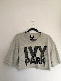 Gray and black Ivy Park crop top Arcade, 95821