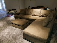 Brown sectional couch with ottoman Atlanta, 30324