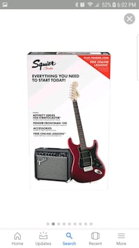 Squier by Fender Red and Black Electric Guitar Woodbridge, 22191