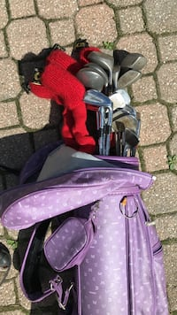 Purple golf bag