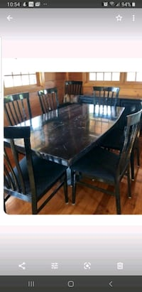 Dining room table and 8 chairs marble composite  Middletown, 10940