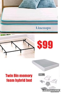 Twin mattress and boxspring with frame  Las Vegas, 89135