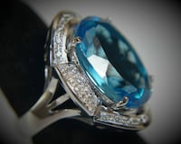Unbelievable Blue Topaz and Diamond ring EDMONTON