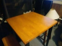 rectangular brown wooden table with chairs Hanover, 47243