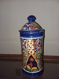 Mexican Hand Painted Container Phoenix