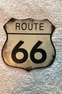 Route 66 decorative metal sign