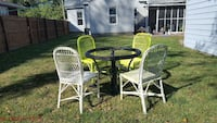 round wicker table with four chairs Rochester, 62563
