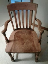 VINTAGE OAK LIBRARY/LAWYER/BANKERS ARM CHAIRS 111 mi