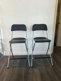two black-and-gray folding chairs Toronto, M9W 1A8