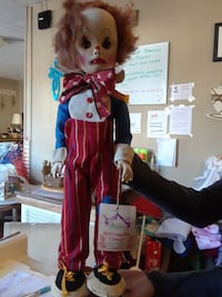 brown haired male sad clown plush toy Wilmington, 28401