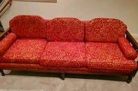 Antique red couche