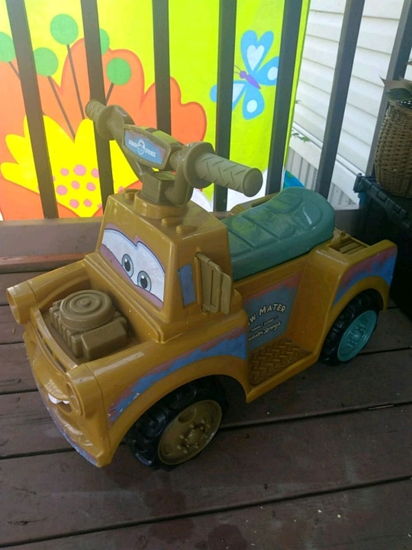 Used Toddler S Disney Pixar Cars Tow Mater Ride On Toy Car For In Houma Letgo