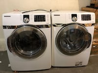 White samsung front-load washer and dryer set 224 mi