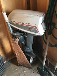 white and black Evinrude outboard motor Edmonton, T5G