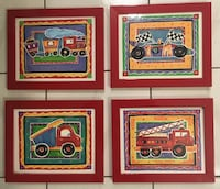 "Wall decor for kids room. 9.5""X11.5"" , $10 for all 4 of them  Middleton, 01949"