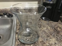 Nice large clear vase for flowers or decoration.   Clarksville, 37042