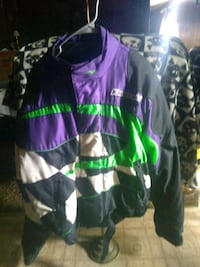 black, pink, and green zip-up jacket Boone, 50036