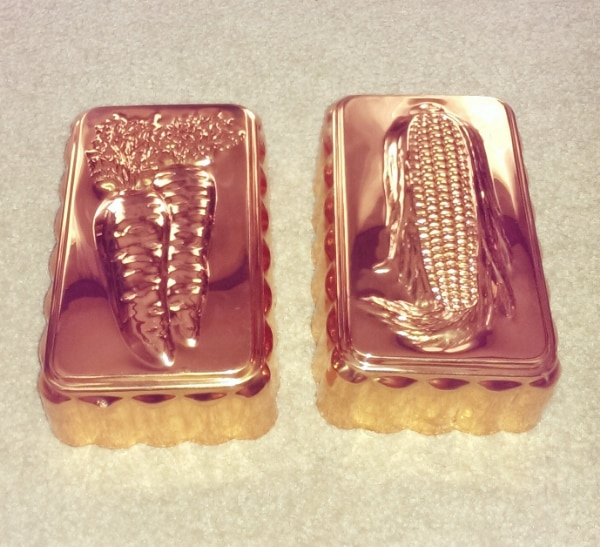Decorative Copper Mold Wall Hangings (set of 2)