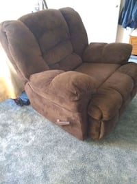 Chocolate color rocker swivel and recliner Kingsburg, 93631