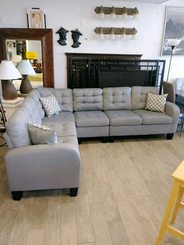 Gray Sinclair 5 PC Sectional Sofa By Homelegance -