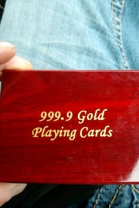 999.9 gold playing cards