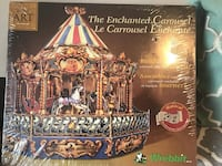 Carousel the Enchanted Carousel KIT By Built Art Collection-BNIB  Product description  Assemble your own cardboard carousel, and watch it turn as it plays real Barrel-organ music.;Dimensions: 17 1/4 in diameter and 17 1/4 tall.;Recommended for ages 14 and Toronto