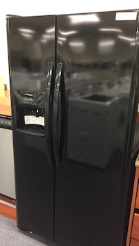 Frigidaire black side-by-side with ice and water through the door 26 ft.³ brand new with manufactures warranty available at 8415 Colerain Ave. please ask for Lilly