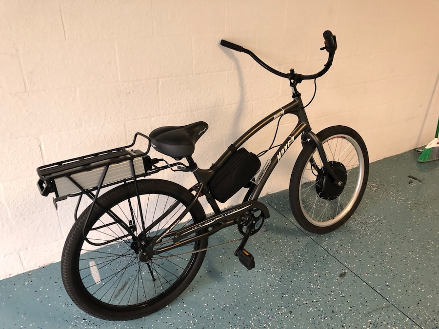 black and gray motorized bicycle for sale  Bradenton