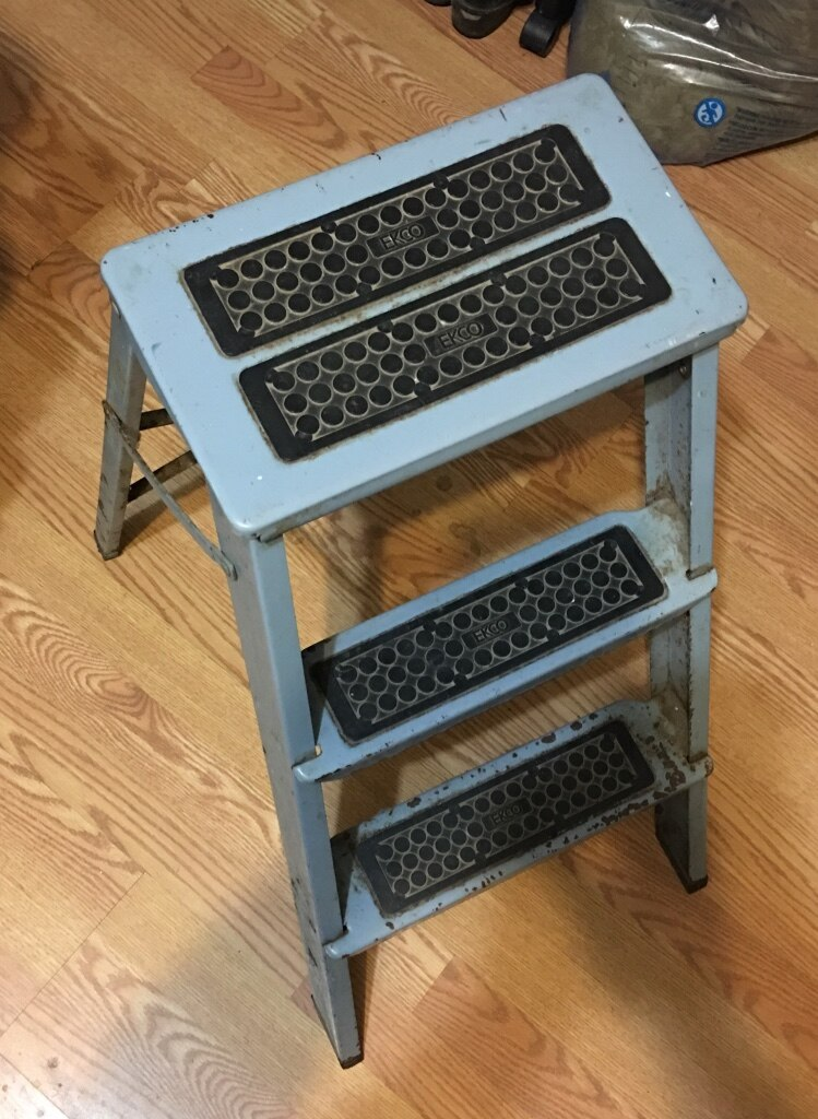 Vintage Blue Ecko Metal Step Ladder