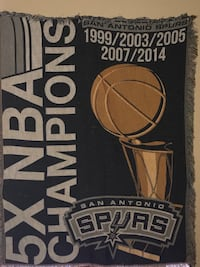 "San Antonio Spurs Commemorative Woven Tapestry Throw, 48"" x 60 San Antonio, 78229"