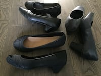 pair of black leather heeled shoes Kitchener, N2R 1S5