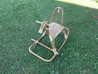 Antique rattan and caned rocking horse  Stirling-Rawdon, K0K