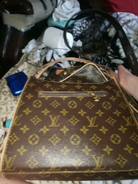 brown Louis Vuitton leather crossbody bag