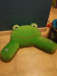 green frog bed arm rest pillow