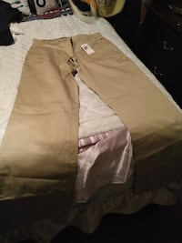 brown and white cargo pants Laval, H7V 3A3