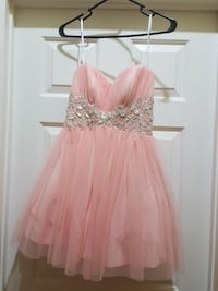 B. Darlin Baby Pink Homecoming/Prom Dress