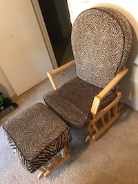 brown wooden framed brown padded armchair Vacaville, 95687