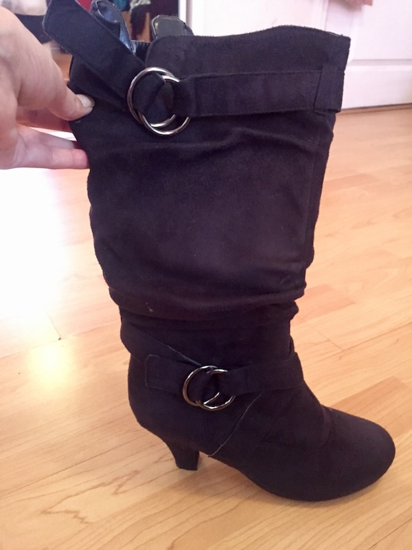 Black Suade Boots