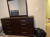 brown wooden dresser with mirror Austin, 78727