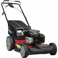 Snapper 21 Self Propelled Gas Mower with Side Discharge, Mulching, Rear Bag and Rear High Wheel