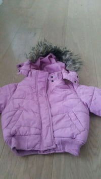 rosa zip-up boble jakke 6243 km