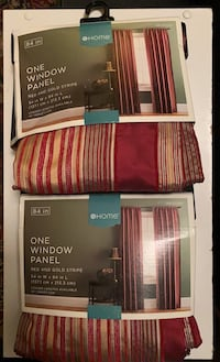 Two Window Panels / Curtains NWT