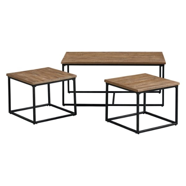 Coffee table with 2 nesting side tables