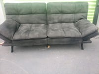 Black Microfiber Futon Sofa Bed- DELIVERY AVAILABLE College Park