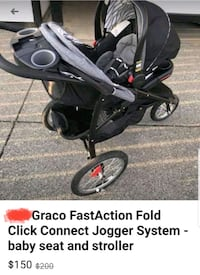 Graco fast action fold, click connect jogging stroller