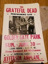 Poster of grateful dead Reno, 89512