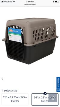 Gray and black pet carrier Langley, V1M 3W3