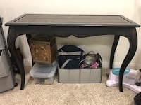 Brown with leather top table, originally $400 West Hollywood, 90069